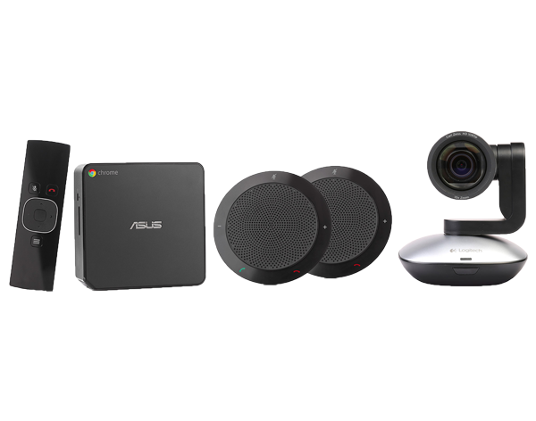 ASUS CHROMEBOX FOR MEETINGS LARGE ROOM CFMLCB-BUNDLE-C3 (MIDNIGHT BLUE)